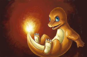 Charmander Roll by kittychasesquirrels