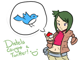 Distela Caught A Wild Twitter by PuhshPuhsh