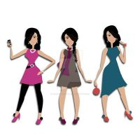 Chic City Girls Clipart by nenalinda82pr
