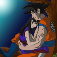 Goku and Chichi by peekabooga