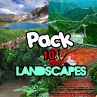 Pack 10 Landscapes LEE DESCRIPCION by Valen025