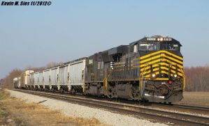 Nickel Plate heritage 8100 leads 301 Staunton IL by EternalFlame1891