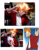 Fry from Futurama: progess by blondewolf2