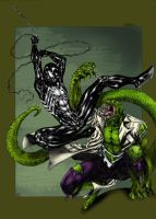 Spidey vs Lizard collab by dartbaston