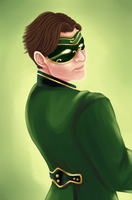 Masquerade Green Lantern (Back View) by Himishi