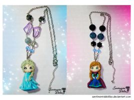 Disney Frozen Necklaces~ by SentimentalDolliez