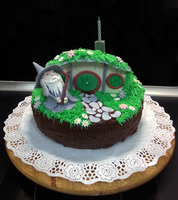 Hobbit Cake by MasterSuffering