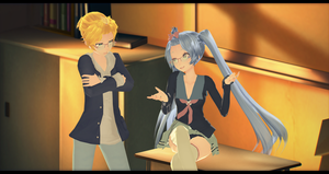 Len is not amused by Aia-Aria