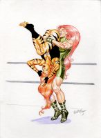 Tigra vs Knockout by TheRaytrix