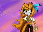 Fire the Felivine by Jade-the-Tiger