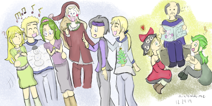 :FFVI: Christmas Stories and Ugly Sweaters by magedusted