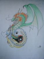 Green and Yellow dragons by GLC19