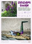 Origami Swan Using Photo Of Tribune Tower Flowers- by spudart