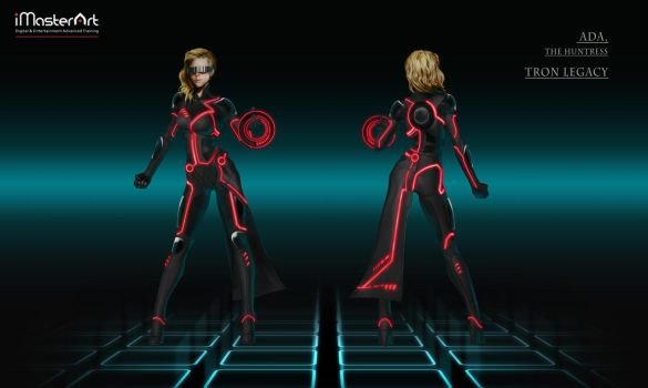 Character Practice: Tron Legacy COLOR by NocturnaDraco