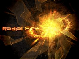 Radial Fire Poster - 4 x 3 by lostfutureamp