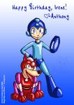 Mega Man and Rush by Gummibearboy
