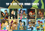 Top 10 Total Drama Couples by cartoonobsessedSTAR1