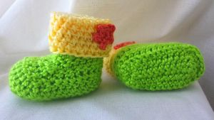 Summer Baby Booties by VanillaBeanCafe