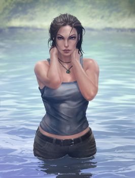 Lara Croft by krysdecker