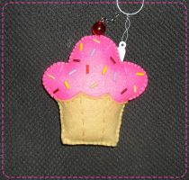 Giant Cupcake Felt Keychain by CamiHetfield