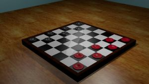 Checkers (3D Modeling project) by FantasyFinale12
