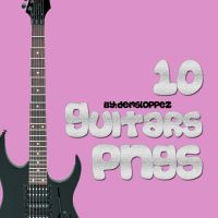 10 Guitars PNGs by demsloppez