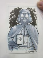 Bmore 2011: Vader Sketch Card by stratosmacca