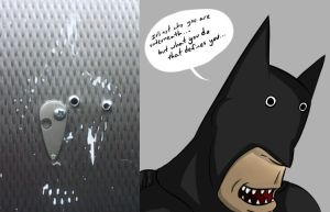 Creepy Bathroom Batman by EnterMEUN