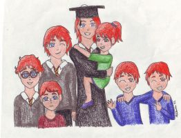 Bill's Graduation by silohettekitty