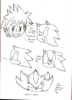Shadow759 Drawing Sonic Head 2 by shadow759