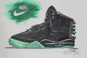 Nike Air Yeezy II's by chrislah294