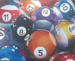 Billiard Balls by missbunnyz
