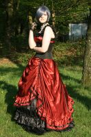 Black-red dress silver wig 5 by Noirin-Stock