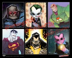 DC Villains by mjfletcher