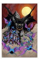 Batman with Zubat by Creeeeeees