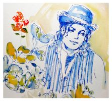 MJ in watercolors by HitomiOsanai