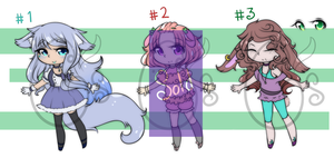 Adoptables girls Open by Celestic-Pixels