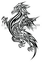 Tribal Dragon Tattoo by einnn