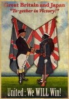 Great Britain & Japan Poster by LordRoem