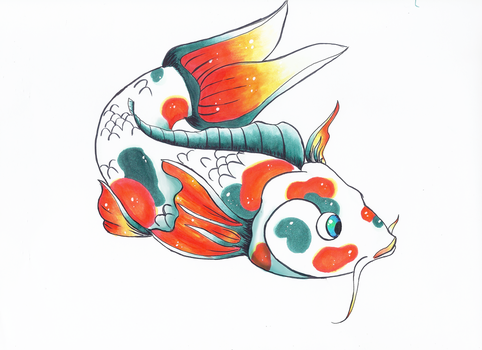 Koi Fish by White-Winged-Dove