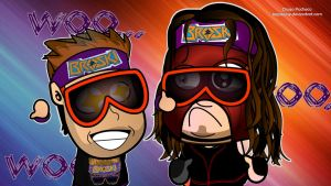 Zack Ryder and Kane Wallpaper by kapaeme