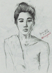 EXO-Kim Jongin (Kai) Drawing by Suyesil