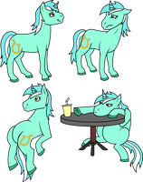 Lyra doodles by PhilosophyPony
