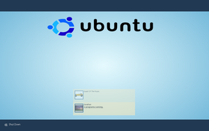 Blue Ubuntu Logon for XP by J-Lindo