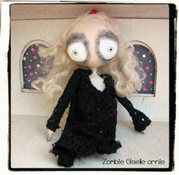 Zombie Giselle art doll ornie by Miss-Millificent