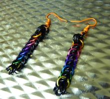 Black and Rainbow Earrings by Divulged