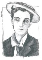 Buster Keaton Sketch by BebeRequin