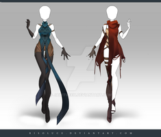 (CLOSED) Adoptable Outfit Auction 198 - 199 by JawitReen