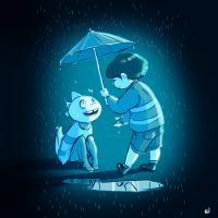 Undertale - It is raining today by oennarts