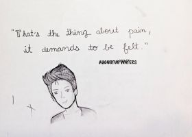 Augustus Waters quote by PonyboyRocksMySocks